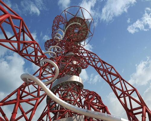 The Slide will twist and turn 12 times, including a tight corkscrew section named the 'bettfeder' / Queen Elizabeth Olympic Park