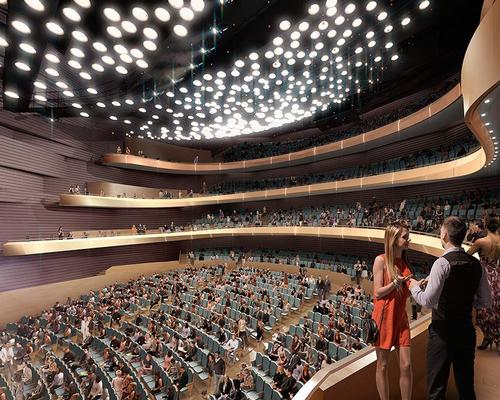 The main auditorium will hold 2,200 people / Diamond Scmitt