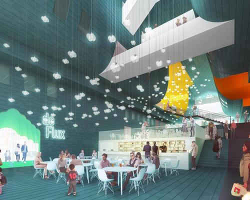 Interior leisure facilities will include cafes, restaurants and shops / MVRDV