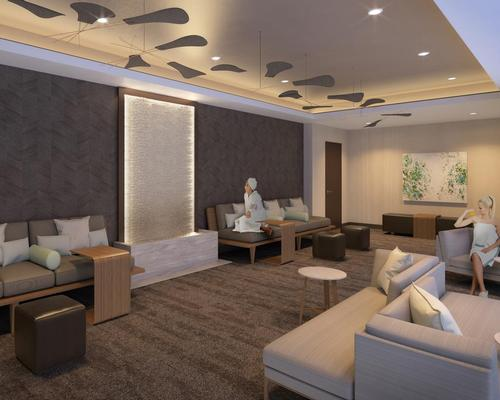 The relaxation room at the new Spa at Coronado Island and Wellness Center