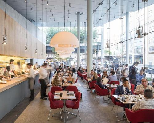 Renzo Piano Building Workshop were joint winners of a James Beard restaurant design award for Untitled at New York's Whitney Museum / Tim Schenck