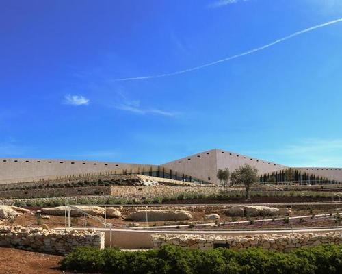 Heneghan Peng were appointed in 2011 to draw up the masterplan for the site, which sits next to Birzeit University in north Ramallah