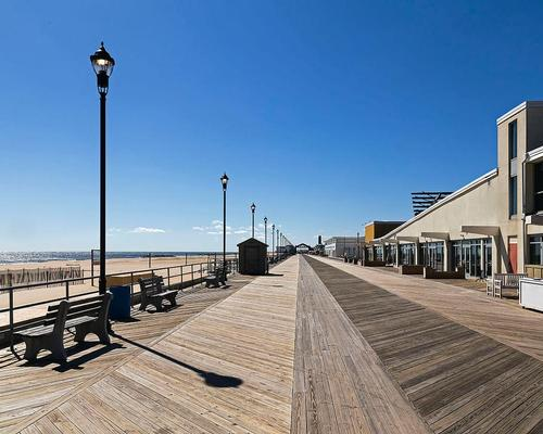 The town's beach and boardwalk are at the heart of the regeneration project / Acroterion