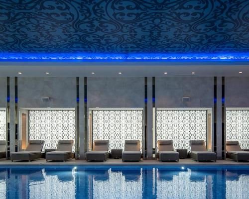 The spa's decor takes inspiration from the hotel's location within the historic Royal Borough of Greenwich and the influences of the East India Trading Company