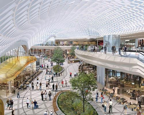 The extension will include a host of dining and entertainment amenities and public space under a vast glazed roof / BDP