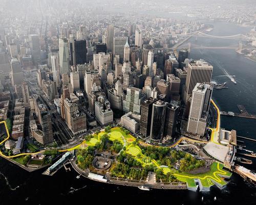 Bjarke Ingels' Dryline has received a funding boost from New York mayor Bill de Blasio / BIG/The City of New York