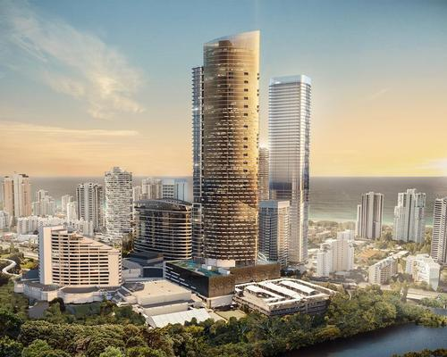 The proposal includes a new 200m tower for a hotel and luxury apartments / Star Entertainment Group
