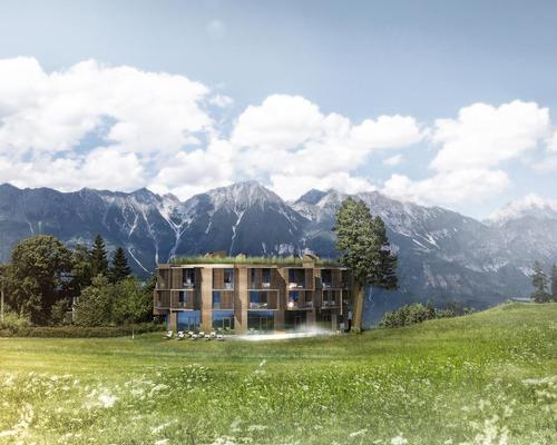 The new building will have an incredible view of an alpine mountain range / Alexander Schmitz