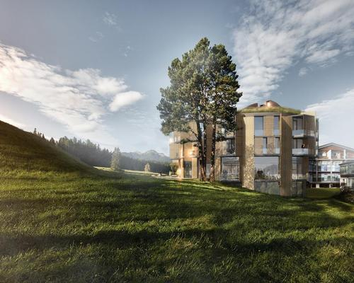 The extension will add 16 guest rooms, a new sauna complex and an indoor pool / Lanserhof