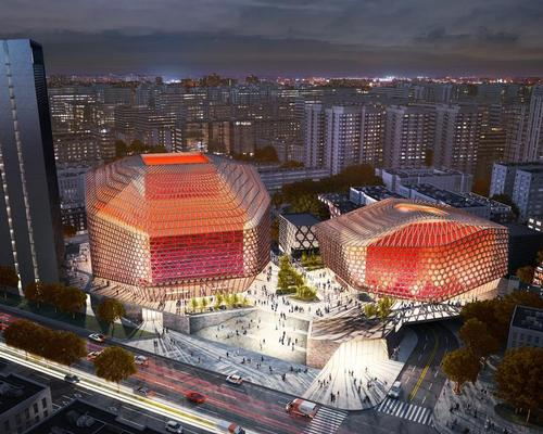 Urban Concert Hall will be formed of several sculptural volumes, which settle into the neighbourhood 'like a piece of a puzzle' / GMP