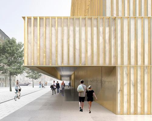 The building will feature gold fins around the facade / David Chipperfield Architects