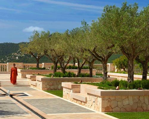The resort features a traditional sunken garden / AECOM
