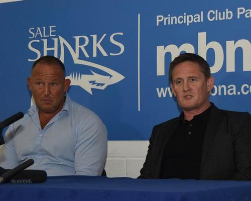 Orange (right) said he wanted to close the gap with the teams above in the Premiership table / Sale Sharks