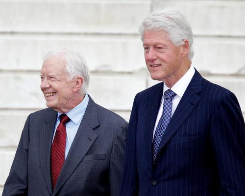 The presidential pair will speak at the end of the Clinton Global Initiative's (CGI) 2016 American meeting in Atlanta, Georgia / Carolyn Kaster/AP/Press Association Images