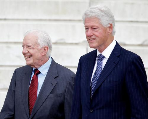 Jimmy Cater and Bill Clinton discussed sustainability and urban growth / Carolyn Kaster/AP/Press Association Images