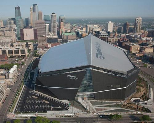 The stadium is a new landmark for Minneapolis / Minnesota Vikings