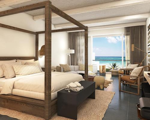 The hotel will feature 448 bedrooms with plunge pools, hydro-spa tub options and a crafted mini-bar with essentials for make-your-own cocktails