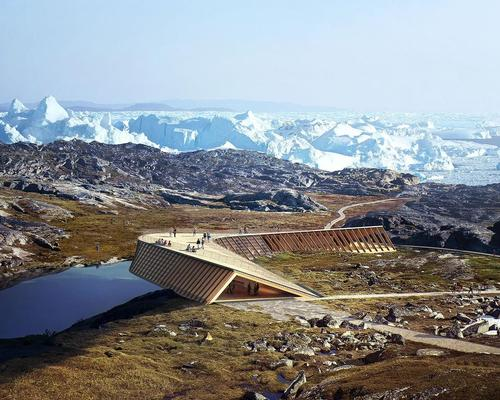 Part of the existing hiking trail, the building offers views of the ice fjord and surrounding landscape / MIR