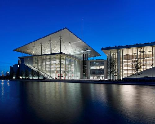 The complex houses the National Library of Greece and the Greek National Opera in separate wings / The Stavros Niarchos Foundation Cultural Center