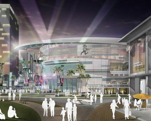 The proposed 18,000-capacity arena will sit in the middle of the ambitious new district
