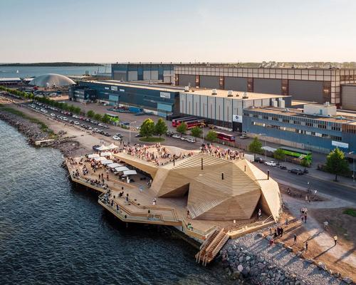 According to the architects, the sauna 'is more like a coastal park than a conventional building' / kuvio.com