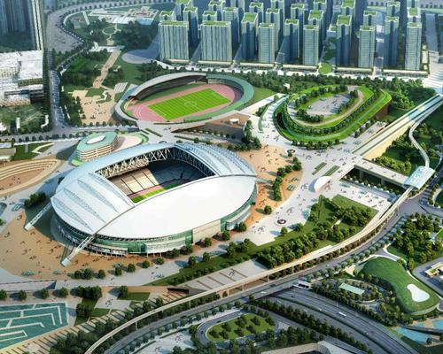 An artist's impression of the Kai Tak Sports Park, which will feature sports stadiums, courts, practice facilities and public fitness areas / Kai Tak Sports Park Project.