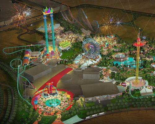 The Six Flags park will contain 27 rides split across six themed zones / Six Flags/DPR