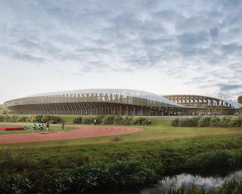 The Zaha Hadid design features heavy use of timber / Zaha Hadid Architects