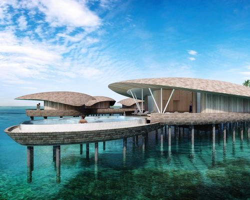 The over-water spa will include six couples' treatment suites, including two dedicated to ayurveda treatments, all of which have ocean-facing bathtubs