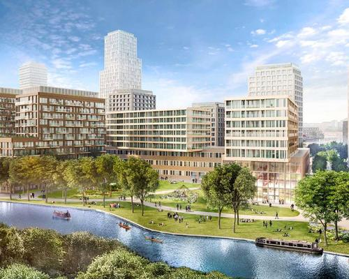 Cargiant and development partner London & Regional Properties have teamed up with PLP Architecture, engineers Arup and Dutch landscape architects West 8 to create the proposal / Old Oak Park