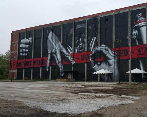 An old bourbon ageing facility is being restored into a five-story facility with a gastropub, cafe, restaurant and large mural / Barry McNees