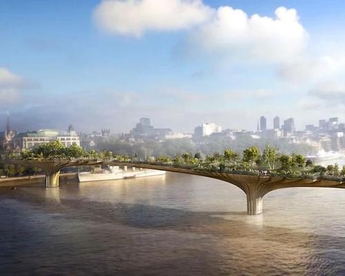 Construction on the Garden Bridge is scheduled to begin in Q3 2016 / Garden Bridge Trust