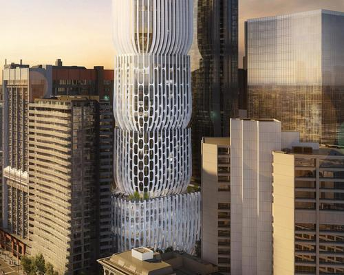 Despite exceeding plot ratio limits, the tower has been approved due to the benefits it will bring to Melbourne's public realm / Zaha Hadid Architects