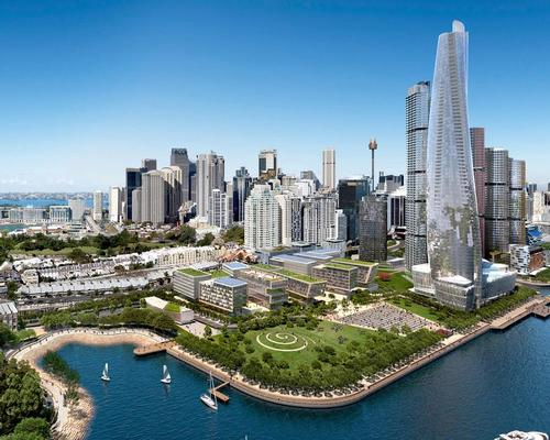 The tower is part of the wider development of Barangaroo South / Crown Resorts