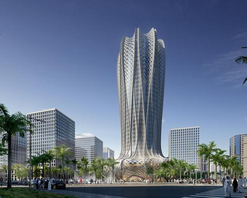 The 38-storey hotel has been inspired by the structure of the Desert Hyacinth; a flowering plant native to the landscapes and coastlines of the Arabian Gulf / Zaha Hadid Architects