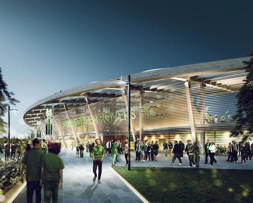 Glen Howells Architects' proposal for the stadium / Glen Howells Architects