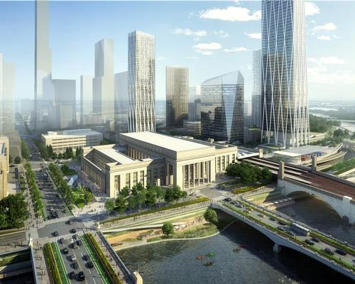 The masterplan envisions 40 new acres of open space and 18 million square feet of new development / SOM