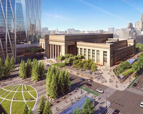 SOM whave suggested new parks and walking trails around the 30th Street Station / SOM