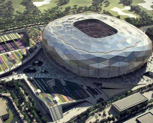 The stadium has been designed by Fenwick Iribarren Architects, who have taken inspiration from traditional Islamic architecture / Fenwick Iribarren Architects