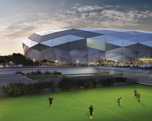 The facility will be a new sports complex for Doha's Education City / Fenwick Iribarren Architects