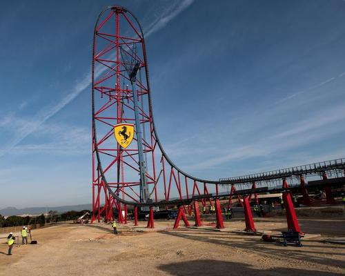 Ferrari Land reached the halfway point of its development in May