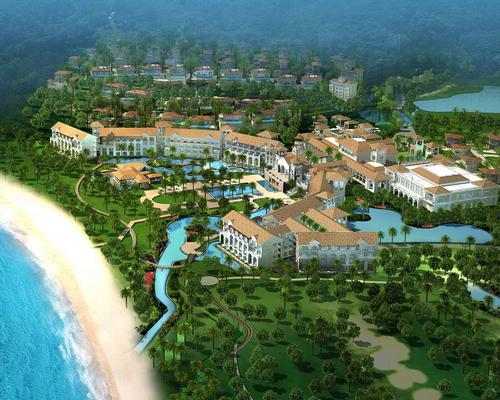 Scheduled to open in 2017, the Ritz-Carlton Nanyan Bay will include 244 bedrooms and 14 private villas