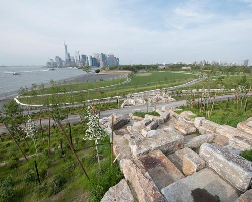 Landscape architects West 8 have finished work on the Hills on Governors Island / West 8