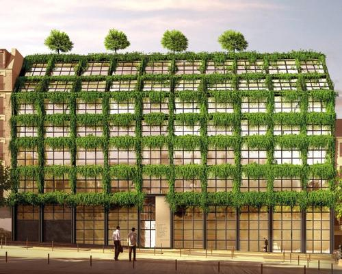 The Paris building will be covered in plants to promote nature and its role in our health / Philippe Starck