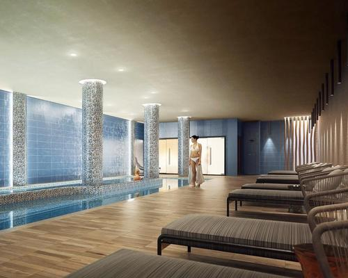 Natural light and diffused, indirect lighting are used to sustain a sense of relaxation at the 350sq m spa