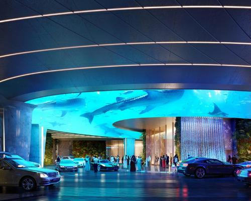 4D animations will bring underwater worlds to the hotel's entrance area / ZAS Architects