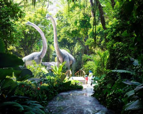 Dinosaurs will return as part of an attraction in the rainforest / ZAS Architects