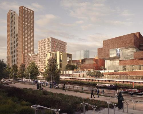 A series of new facilities are being designed by architecture studios Allies and Morrison, O'Donnell + Tuomey and Arquitecturia for the waterfront in the Queen Elizabeth Olympic Park / London Legacy Corporation
