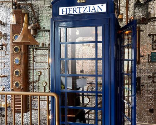 An old telephone box is one of many unusual features in Flora Indica / Flora Indica