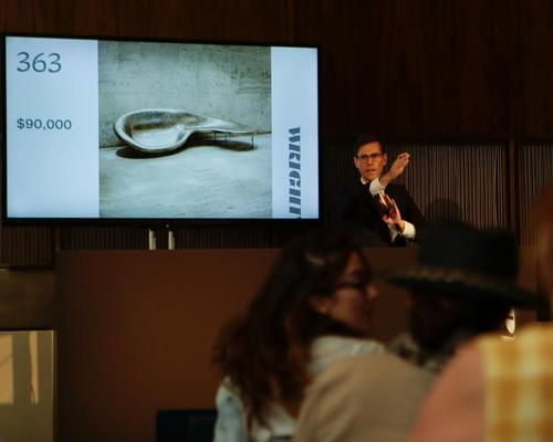 The auction at the iconic Four Seasons restaurant / Frank Franklin II/Press Association Images